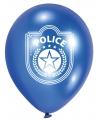Blauw, zwart en witte politie ballonnen