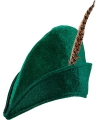 Groene hoed met veer