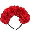 Haaraccesoire met rode bloemen