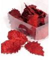 Kerstversiering rode hulstbladeren 24 stuks