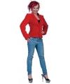 Nepbont jasjes rood voor dames
