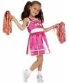 Roze cheerleader carnavalskleding