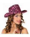 Cowboy hoeden met luipaard print