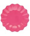 Roze diepe kartonnen bordjes 27 cm