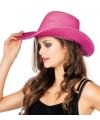 Pailletten cowboyhoed roze