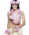 Luau accessoire set roze