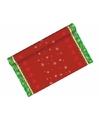 Kerst tafelloper groen met rood