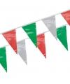 Groen/rood/wit vlaggenlijntjes 4 m