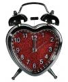 Wekker in hartvorm 13 cm