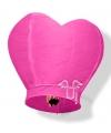 Grote wensballon in hartvorm roze 100 cm