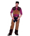 Cowboy kostuum bruin