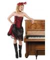 Saloongirl verkleedpak rood/zwart