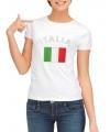 T-shirt met Italiaanse vlag print voor dames