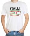 T-shirts met Italia opdruk volwassenen