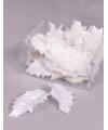 Kerstversiering witte hulstbladeren 24 stuks