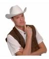 Witte cowboyhoeden voor volwassenen