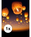 Wens en geluksballon wit 50 x 100 cm