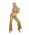 Holografische damesbroek goud