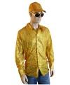 Bling bling blouse goud voor heren