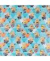 Inpakpapier Minions blauw