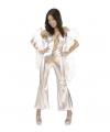 Zilveren catsuit dames
