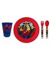 Spiderman plastic ontbijtservies voor kinderen