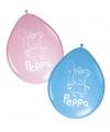 Peppa Pig kinderfeest ballonnen 8 stuks