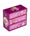 Roze doosje voor sieraden Frozen 12 x 6 x 11 cm