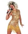 Gouden dames feest jurkjes